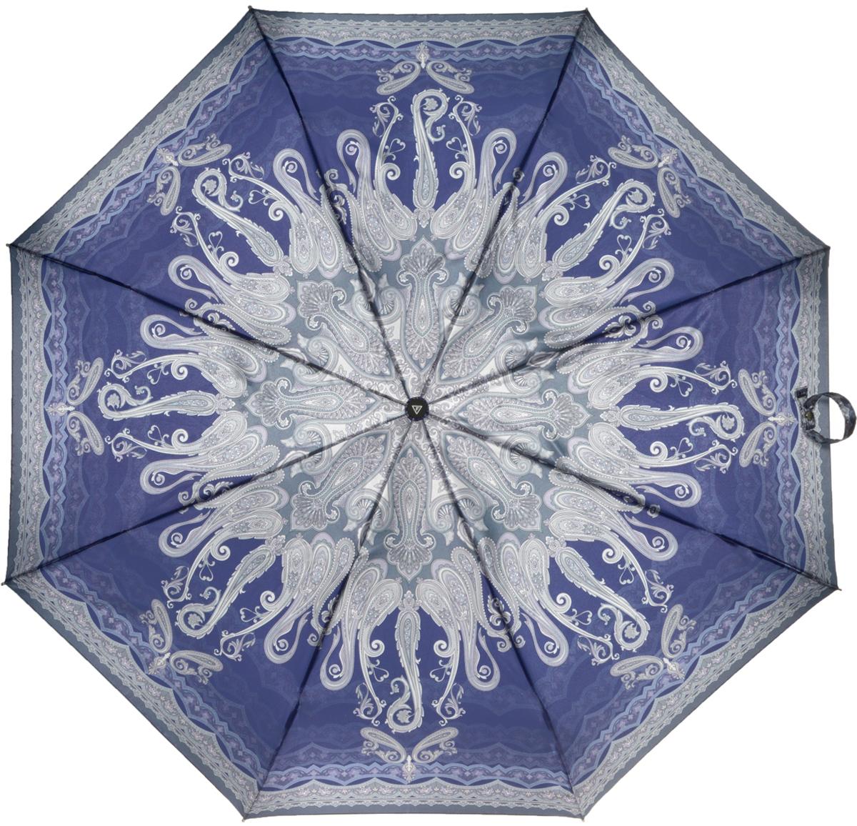 Зонт женский Fabretti, автомат, 3 сложения, цвет: серый. L-16105-16L-16105-16Зонт женский Fabretti, облегченный суперавтомат, 3 сложения