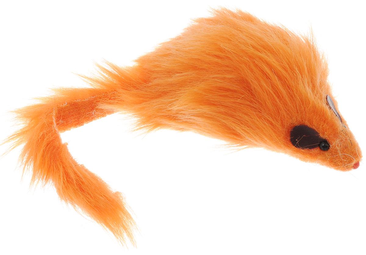 Игрушка для кошек Каскад Мышь, с длинным мехом, цвет: оранжевый, длина 12,5 см27754635Игрушка для кошек Каскад Мышь не позволит заскучать вашему пушистому питомцу. Играя с этой забавной игрушкой, маленькие котята развиваются физически, а взрослые кошки и коты поддерживают свой мышечный тонус. Игрушка выполнена в виде мышки с длинным мехом, черными глазками-бусинками и длинным хвостом. Такая игрушка порадует вашего любимца, а вам доставит массу приятных эмоций, ведь наблюдать за игрой всегда интересно и приятно. Длина игрушки: 12,5 см.