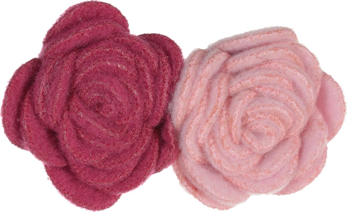 Baby\'s Joy Зажим для волос Цветок цвет розовый малиновый ( VT 71_розовый малиновый )