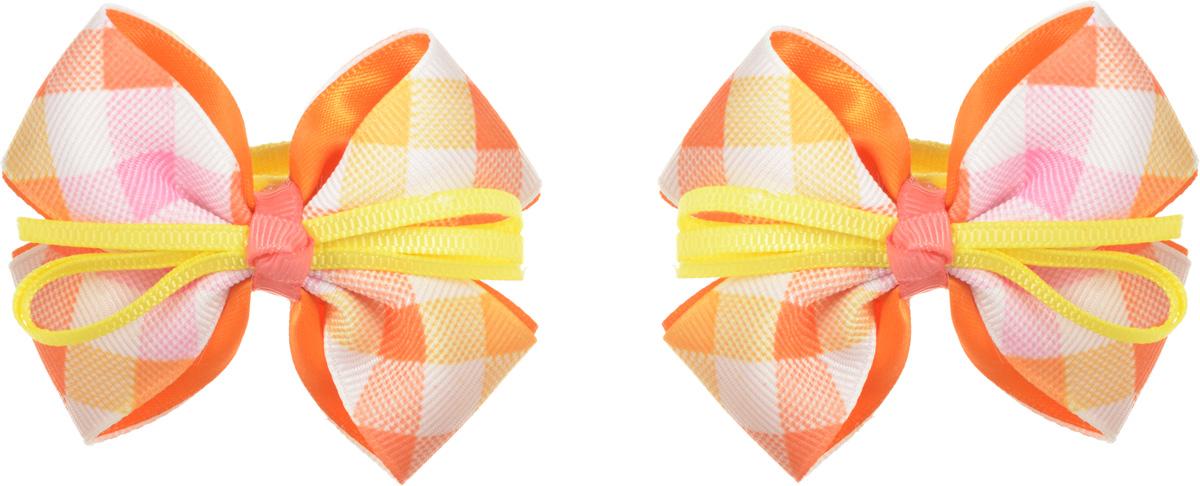 Babys Joy Резинка для волос цвет оранжевый желтый 2 шт MN 164/2MN 164/2_оранжевый, клеткаРезинка для волос Babys Joy выполнена в виде текстильного банта оранжевого и желтого цветов в клеточку. Резинка позволит убрать непослушные волосы с лица и придаст образу немного романтичности и очарования. Резинка для волос Babys Joy подчеркнет уникальность вашей маленькой модницы и станет прекрасным дополнением к ее неповторимому стилю. В упаковке 2 резинки.