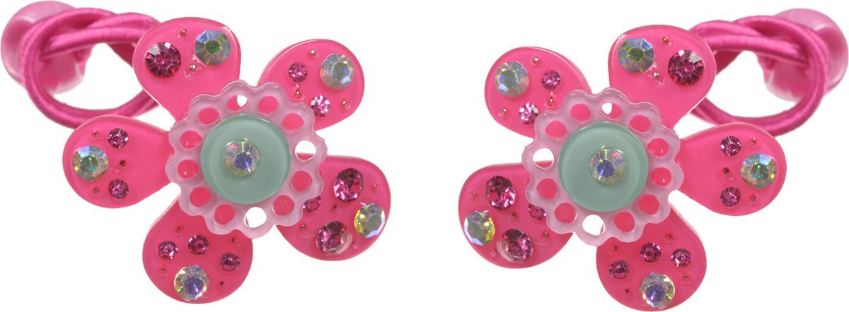 Babys Joy Резинка для волос Цветок цвет розовый 2 штAL 970_цветокРезинка для волос Babys Joy Цветок - отличное дополнение к прическе вашей юной модницы. В набор входят две резинки, дополненные декоративными элементами в виде пластиковых цветочков, украшенных стразами, и пластиковых бусин в цвет резинки. Резинки хорошо тянутся и прекрасно держат волосы.
