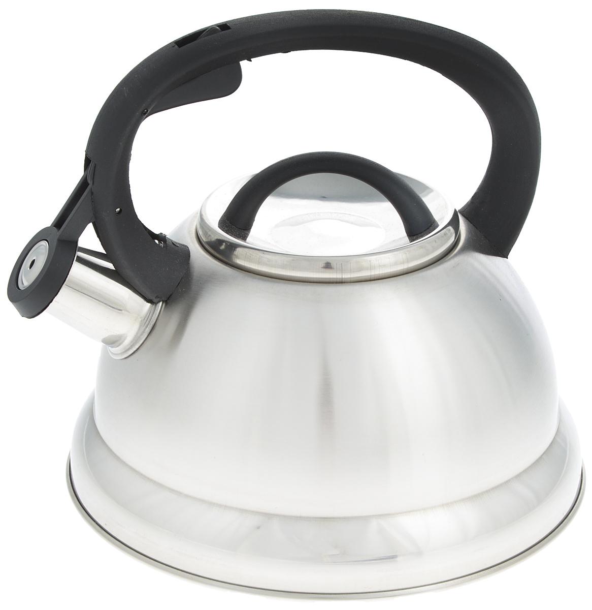 Чайник Mayer & Boch, со свистком, 2,5 л. 2574725747Чайник со свистком Mayer & Boch изготовлен из высококачественной нержавеющей стали, что обеспечивает долговечность использования. Носик чайника оснащен откидным свистком, звуковой сигнал которого подскажет, когда закипит вода. Свисток открывается нажатием кнопки на фиксированной ручке, сделанной из пластика. Чайник Mayer & Boch - качественное исполнение и стильное решение для вашей кухни. Подходит для газовых, электрических, стеклокерамических и галогеновых плит. Можно мыть в посудомоечной машине. Высота чайника (с учетом ручки и крышки): 20,5 см. Высота чайника (без учета ручки и крышки): 12 см. Диаметр чайника (по верхнему краю): 10 см. Диаметр основания: 19 см.