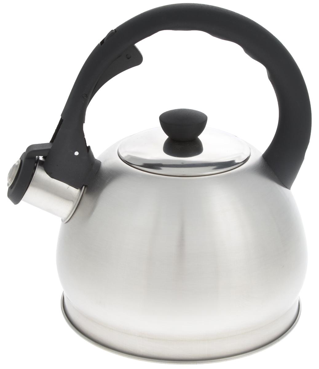 Чайник Mayer & Boch, со свистком, 2 л. 2589425894Чайник со свистком Mayer & Boch изготовлен из высококачественной нержавеющей стали, что обеспечивает долговечность использования. Носик чайника оснащен откидным свистком, звуковой сигнал которого подскажет, когда закипит вода. Свисток открывается нажатием кнопки на фиксированной ручке, сделанной из пластика. Чайник Mayer & Boch - качественное исполнение и стильное решение для вашей кухни. Подходит для всех типов плит, включая индукционные. Можно мыть в посудомоечной машине. Высота чайника (с учетом ручки и крышки): 22 см. Диаметр чайника (по верхнему краю): 9 см. Диаметр основания: 16,5 см. Диаметр индукционного диска: 11,5 см.