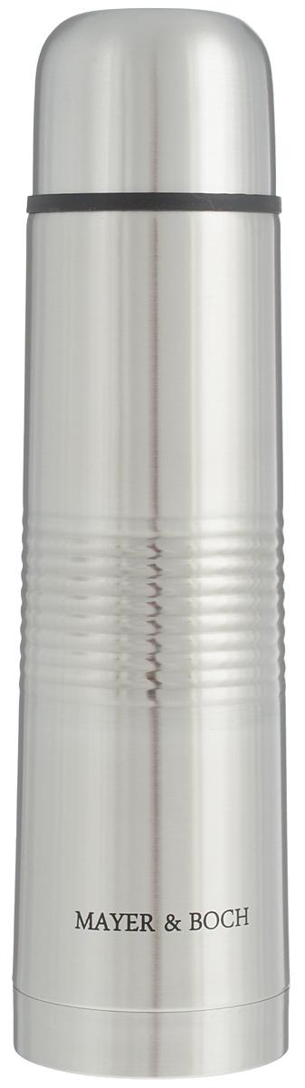 Термос Mayer & Boch, 750 мл. 2588325883Термос Mayer & Boch выполнен из высококачественной нержавеющей стали, которая не вступает в реакцию с содержимым термоса и не изменяет вкусовых качеств напитка. Двойная стенка из нержавеющей стали сохраняет температуру напитков в течение 24 часов. Вакуумный закручивающийся клапан предохраняет от проливаний, а удобная кнопка-дозатор избавит от необходимости каждый раз откручивать крышку. Крышку можно использовать как чашку. Ребристая поверхность термоса предотвратит скольжение рук. Данная модель термоса прочная, долговечная и в то же время легкая. Термос Mayer & Boch понравится абсолютно всем и впишется в любой интерьер кухни. Не рекомендуется мыть в посудомоечной машине. Диаметр горлышка: 4,4 см. Диаметр основания термоса: 7,5 см. Высота термоса: 28,5 см.
