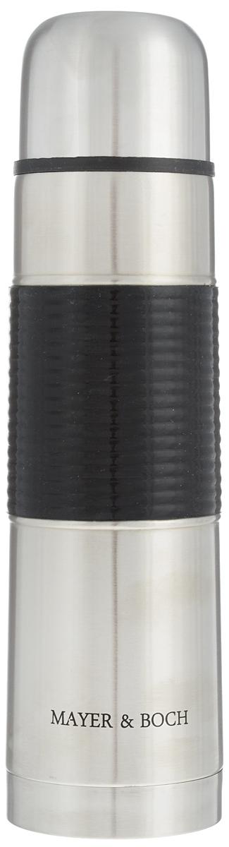 Термос Mayer & Boch, 750 мл. 2588225882Термос Mayer & Boch выполнен из высококачественной нержавеющей стали, которая не вступает в реакцию с содержимым термоса и не изменяет вкусовых качеств напитка. Двойная стенка из нержавеющей стали сохраняет температуру на более длительный срок. Вакуумный закручивающийся клапан предохраняет от проливаний, а удобная кнопка-дозатор избавит от необходимости каждый раз откручивать крышку. Крышку можно использовать как чашку. Ребристая силиконовая вставка на корпусе термоса предотвратит скольжение рук. Данная модель термоса прочная, долговечная и в тоже время легкая. Стильный металлический термос понравится абсолютно всем и впишется в любой интерьер кухни. Не рекомендуется мыть в посудомоечной машине. Диаметр горлышка: 4,5 см. Диаметр основания термоса: 7,5 см. Высота термоса: 28,5 см.