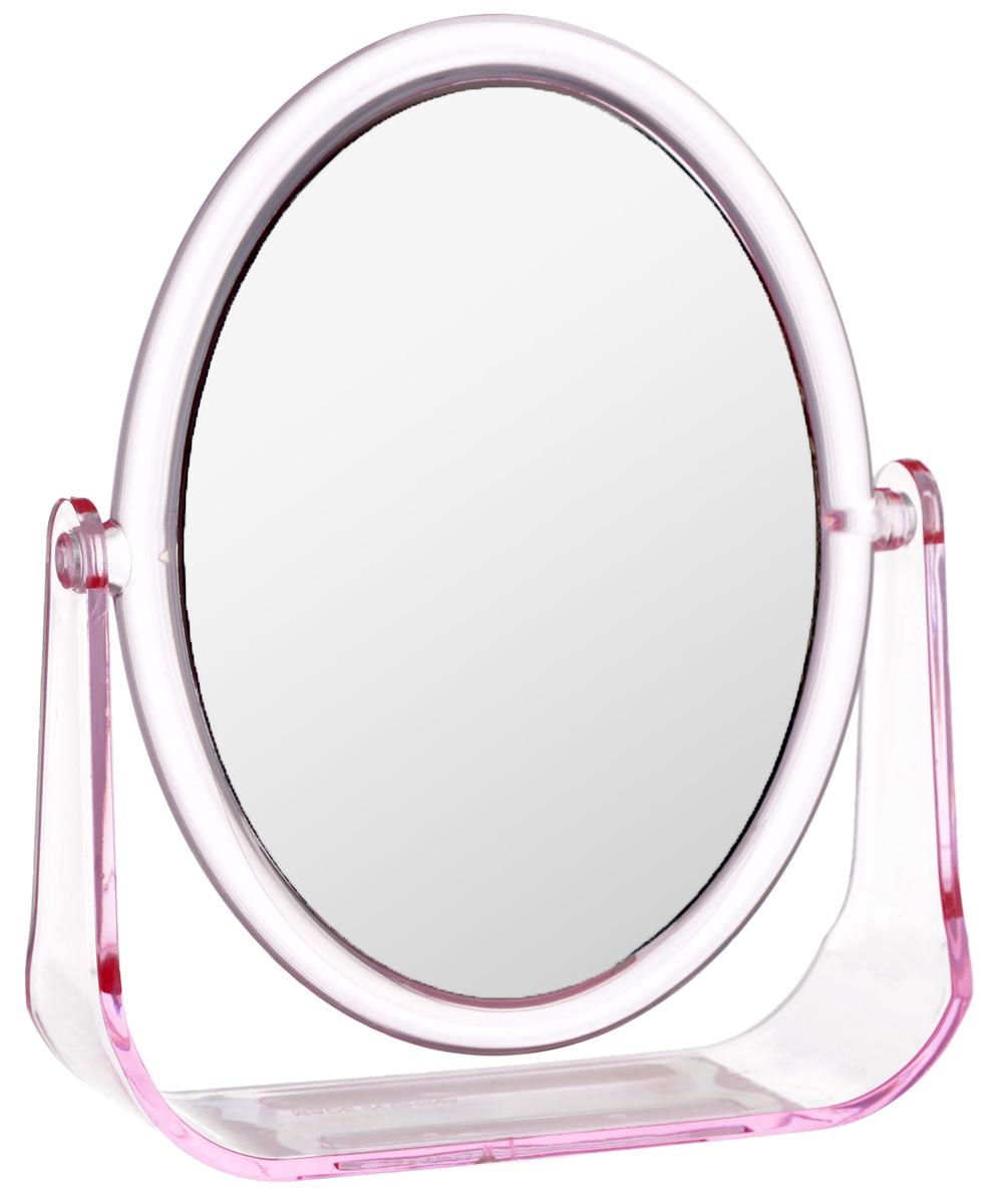 Зеркало косметическое Top Star, настольное, цвет: розовый, 15 х 12 см702740_розовыйНастольное косметическое зеркало Top Star идеально подходит для нанесения макияжа и совершения различных косметических процедур. Двухстороннее зеркало с регулируемым углом наклона позволит вам установить его так, как это удобно вам, а двукратное увеличение одной из зеркальных линз поможет разглядеть даже малейшие нюансы и устранить все недостатки кожи. Яркий и стильный дизайн делает зеркало отличным подарком родным и близким, оно будет прекрасно смотреться в любом интерьере.
