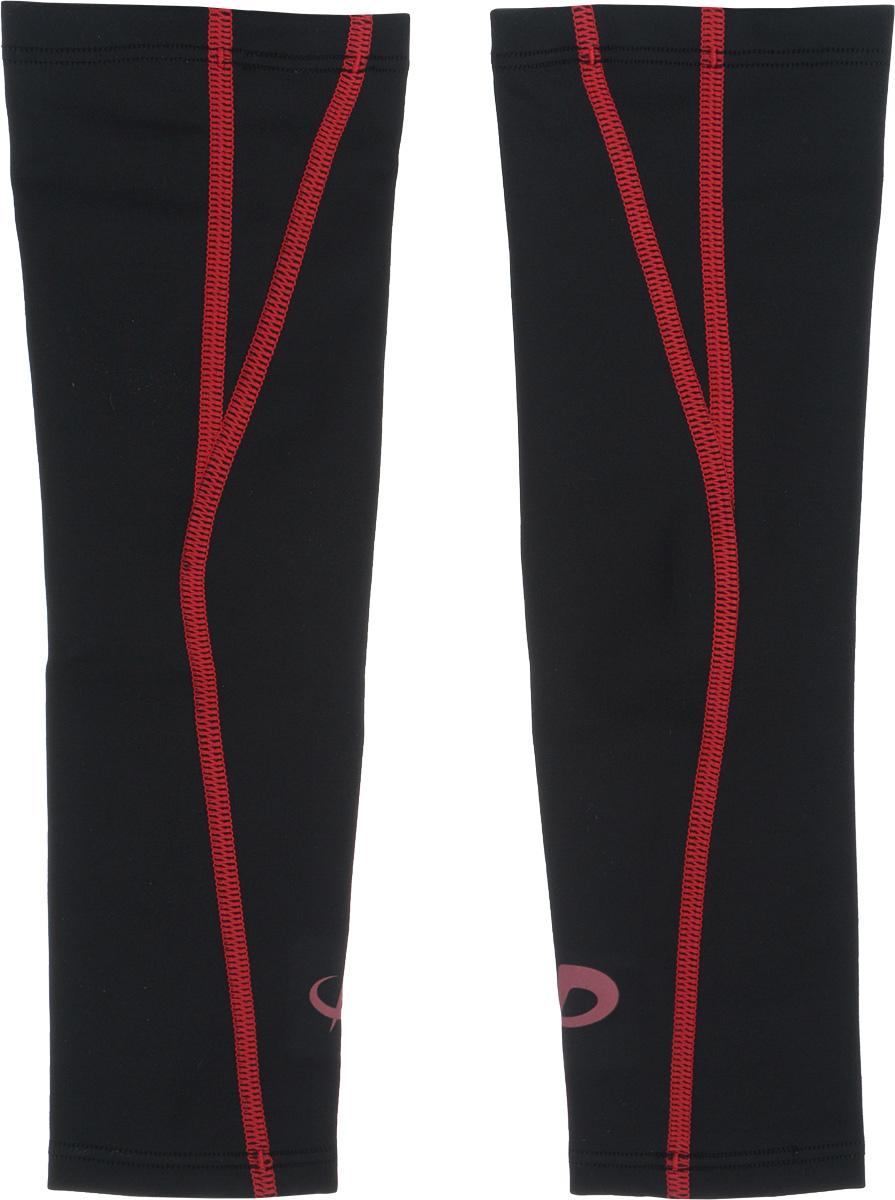 """Рукав силовой Phiten """"X30"""", цвет: черный, красный, 2 шт. Размер S (19-25 см)"""