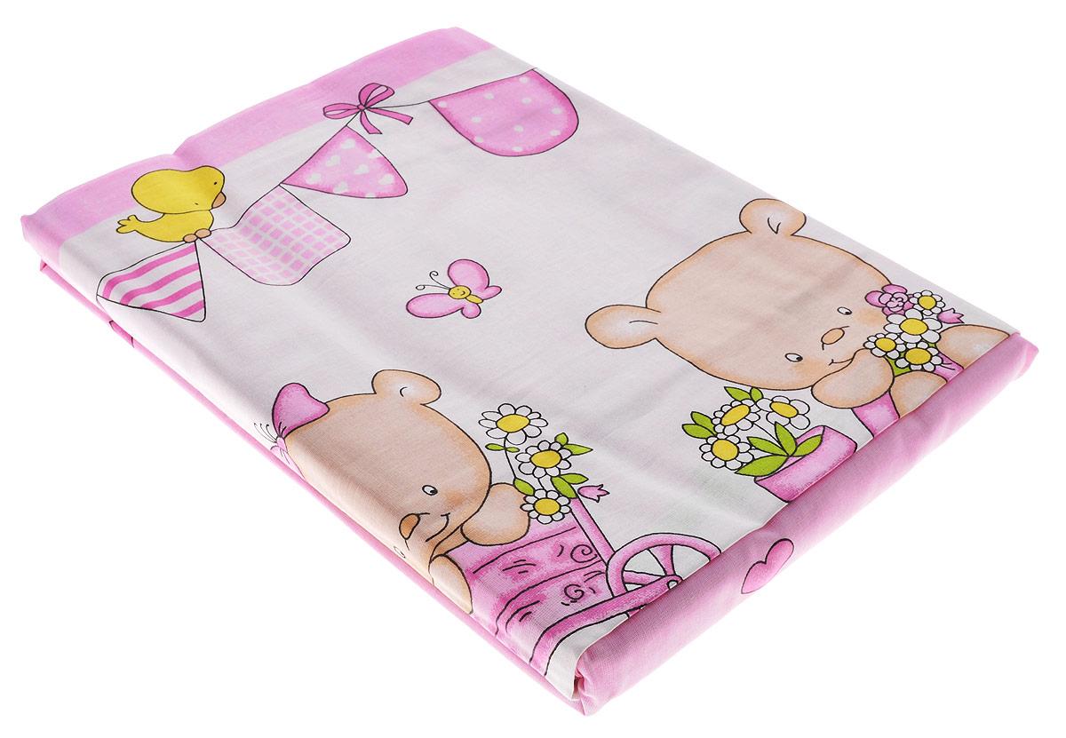Блакiт Комплект детского постельного белья Мишутки 3 предмета