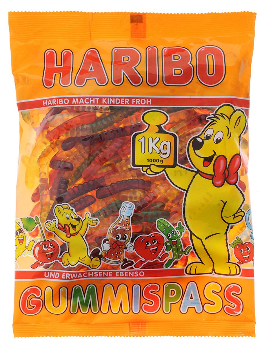 Haribo Червячки Гуммиспасс жевательный мармелад, 1 кг