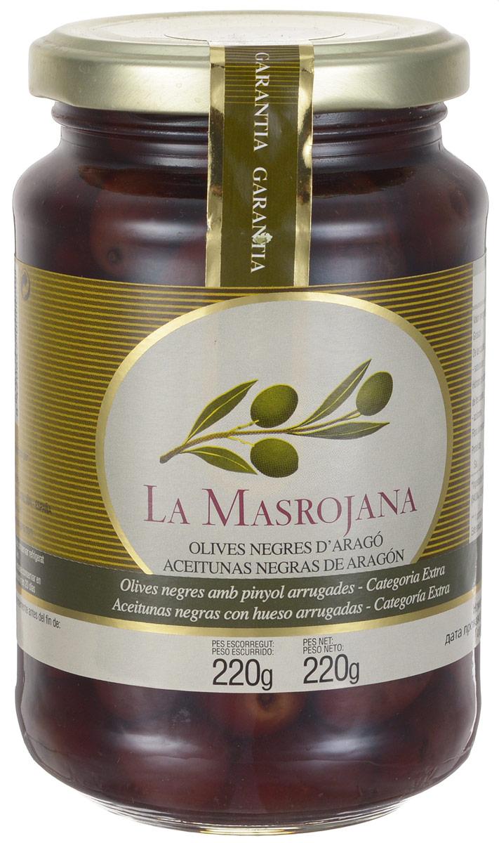 La Masrojana оливки черные сорта Арагон с косточкой, 220 г8420642000022Черные оливки La Masrojana сорта Арагон с косточкой без искусственных добавок: красителей, консервантов, усилителей вкуса! Это единственная натуральная черная оливка, которая не подвергается химической обработке для приобретения черного цвета. Для изготовления использую только натуральные ингредиенты - вода, морская соль. Тот факт, что этот сорт собирают в уже зрелом виде придает оливкам не такую твердую структуру, как у окрашенных черных оливок, и более мягкий и приятный вкус, абсолютно отличающийся от других оливок. Эти оливки собираются вручную, таким образом, мы предотвращаем их повреждение и удары об стекло, предоставляя продукт наивысшего качества. Эти оливки - идеальная закуска, отлично сочетаются с оливковым маслом, пряными травами или чесноком. Сбор оливок осуществляется вручную, в результате оливки отличного качества и после обработки, имеют исключительный цвет и аромат, который отражает традиции и образ жизни.