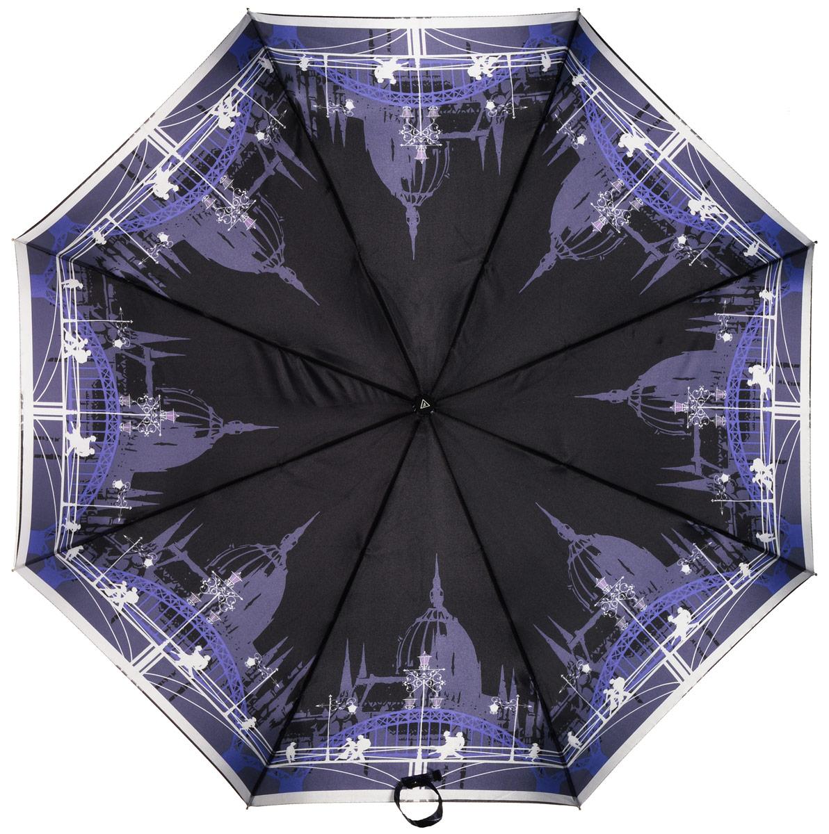 Зонт женский Fabretti, автомат, 3 сложения, цвет: мультиколор. L-16106-13L-16106-13Зонт женский Fabretti, облегченный суперавтомат, 3 сложения