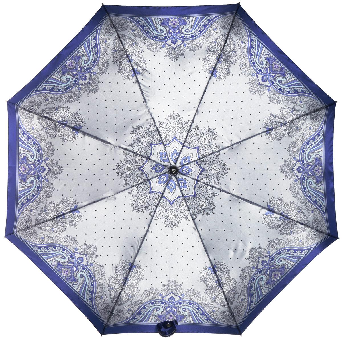 Зонт женский Fabretti, автомат, 3 сложения, цвет: мультиколор. L-16104-4L-16104-4Зонт женский Fabretti, облегченный суперавтомат, 3 сложения