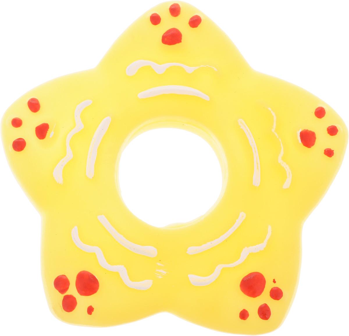 Игрушка для собак Каскад Кольцо-звезда, цвет: желтый, 13 х 13 см27799280_желтыйИгрушка для собак Каскад Кольцо-звезда изготовлена из мягкой и прочной безопасной резины, устойчивой к разгрызанию. Игрушка снабжена пищалкой. Изделие отличается прочностью и в то же время гибкостью и эластичностью. Необычная и забавная игрушка прекрасно подойдет для игр вашей собаки.