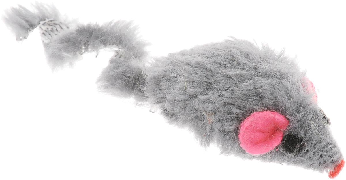 Игрушка для кошек Каскад Мышь, с коротким мехом, цвет: серый, длина 5 см27754633_серыйИгрушка для кошек Каскад Мышь не позволит заскучать вашему пушистому питомцу. Играя с этой забавной игрушкой, маленькие котята развиваются физически, а взрослые кошки и коты поддерживают свой мышечный тонус. Игрушка выполнена в виде мышки с коротким мехом, розовыми ушками и длинным хвостом. Такая игрушка порадует вашего любимца, а вам доставит массу приятных эмоций, ведь наблюдать за игрой всегда интересно и приятно. Длина игрушки: 5 см. Длина игрушки (с учетом хвоста): 10 см.
