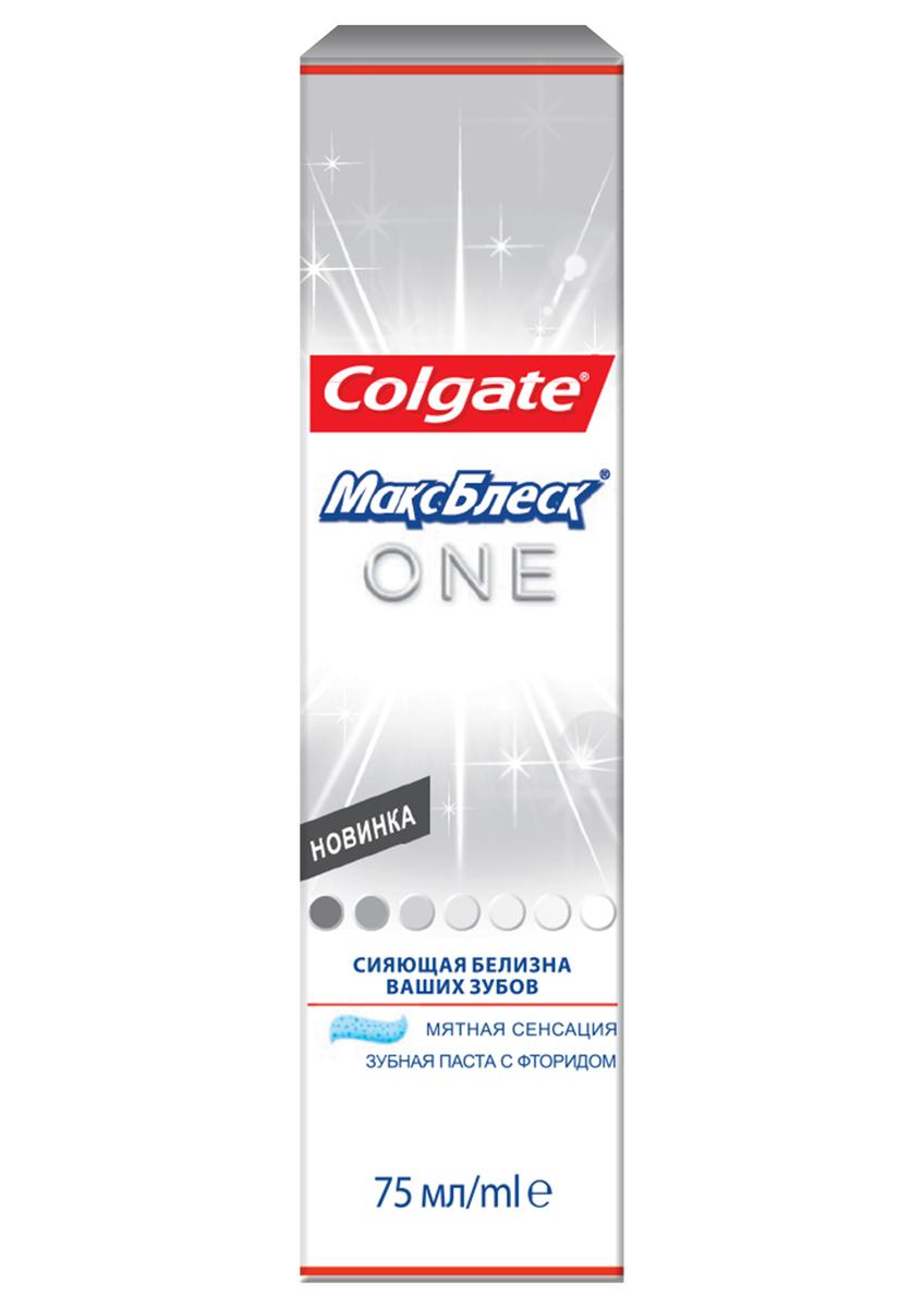 Зубная паста Colgate МаксБлеск. One, отбеливающая, 75 мл281482Зубная паста Colgate МаксБлеск. One с микрокристаллами активаторами белизны, содержит компоненты, подобные тем, что используют стоматологи при отбеливании зубов. Зубы белее на 1 тон за 1 неделю. Характеристики: Объем: 75 мл. Производитель: Китай. Товар сертифицирован.