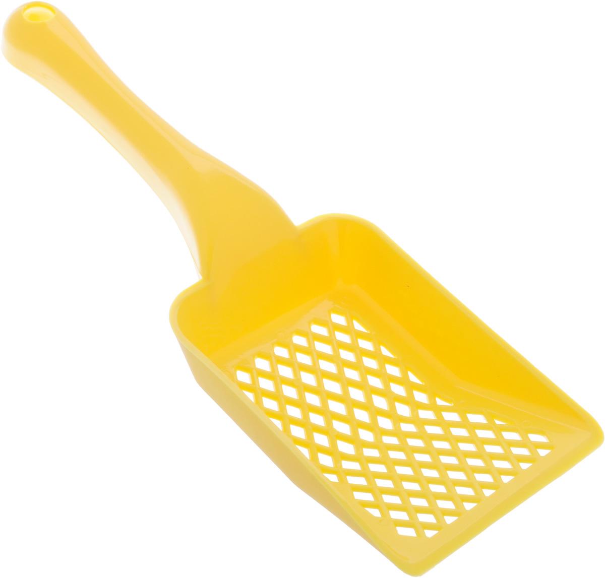 Совок для кошачьего туалета Каскад, цвет: желтый, длина 27 см46304050_желтыйСовок для кошачьего туалета Каскад изготовлен из цветного пластика. Рабочая поверхность совка со специальными отверстиями позволяет эффективно просеивать наполнитель и удалять образовавшиеся комки. На ручке совка есть отверстие для подвешивания на стену. С помощью этого совка вы сможете быстро и качественно убрать кошачий туалет. Длина совка: 27 см. Размер рабочей поверхности: 9 х 13 х 2,5 см.