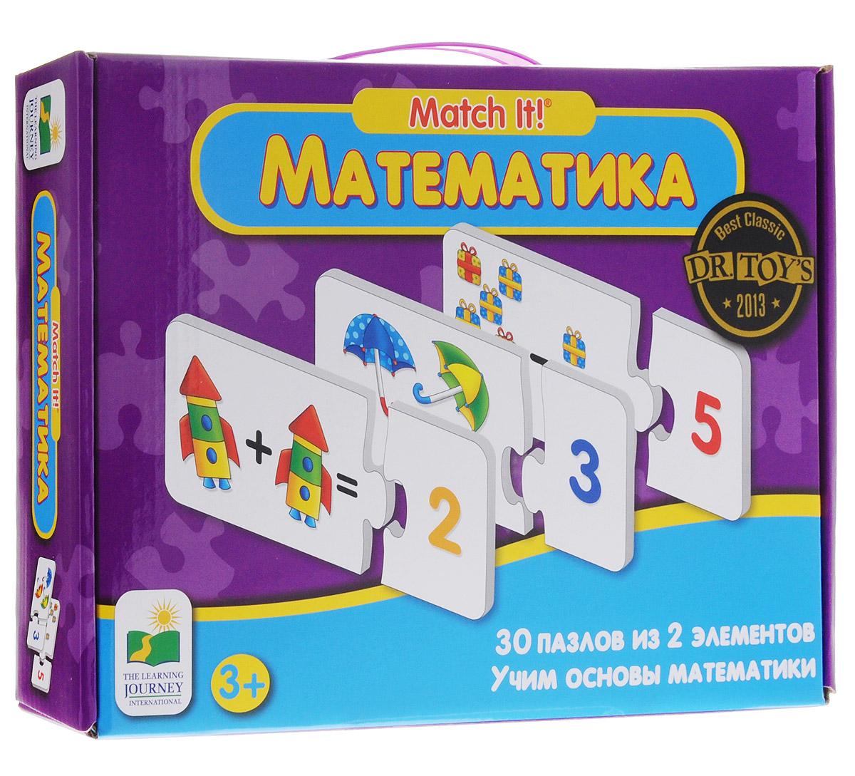 Learning Journey Пазл для малышей Математика 30 в 1288528Удивительный пазл для малышей Learning Journey Математика - отличный развивающий подарок вашему малышу! Теперь развиваться будет легко и весело! Собрав этот пазл, включающий в себя 60 элементов, вы получите 30 картинок. На одной половине картинок изображены различные предметы, на другой цифры. Ребенку предстоит логически сопоставить половинки друг с другом, подсчитывая количество предметов или выполняя простые арифметические действия - сложение и вычитание. Пазл научит ребенка усидчивости, умению доводить начатое дело до конца, поможет развить внимание, память, образное и логическое мышления, сенсорно-моторную координацию движения рук. Крупная и яркая форма собираемых элементов картинки способствуют развитию мелкой моторики, которая напрямую влияет на развитие речи и интеллектуальных способностей. В дальнейшем хорошая координация движений рук поможет ребенку легко овладеть письмом.