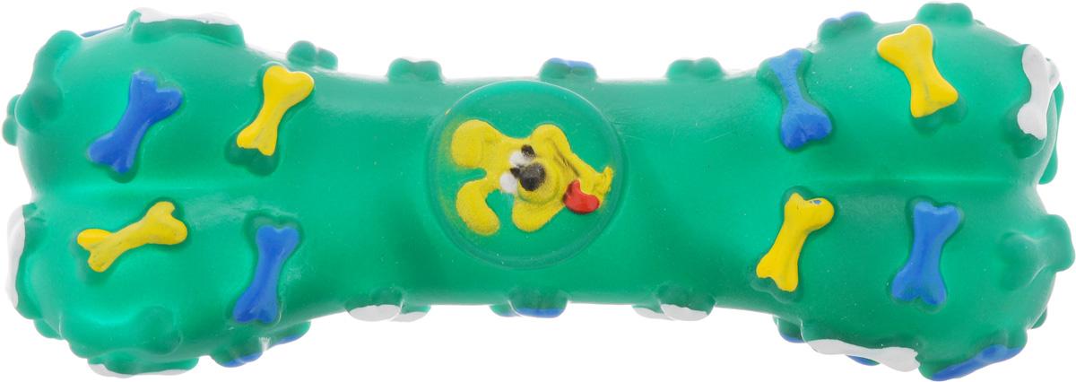 Игрушка для животных Каскад Косточка, с пищалкой, цвет: зеленый, длина 16 см27799279_зеленыйИгрушка Каскад Косточка изготовлена из прочной и долговечной резины, которая устойчива к разгрызанию. Необычная и забавная игрушка прекрасно подойдет для собак, любящих игрушки с пищалками.
