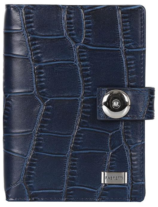 Обложка для документов женская Fabretti 53003-blue-cocco53003-blue-coccoЖенская обложка для документов FABRETTI из натуральной кожи. Внутри дополнительно вкладыш для документов,для паспорта и 5 отделений для кредитных и дисконтных карт.Фурнитура-серебро.