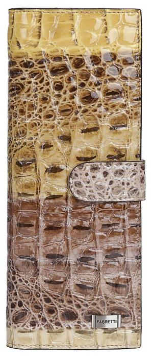 Визитница женская Fabretti 81502-colourful cocco L81502-colourful cocco LЯркая и вместительная визитница от итальянского бренда Fabretti выполнена из натуральной лакированной кожи с тиснением под крокодила. Фурнитура, выполненная в серебре и крокодиловый принт делают дизайн утонченным и изысканным. Внутри 40 отделений для кредитных и дисконтных карт, а также 17 кожаных кармашков. Аксессуар закрывается на удобную застежку.