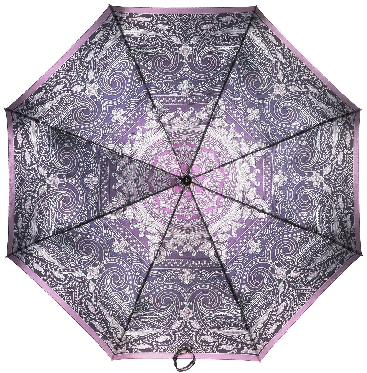 Зонт женский Fabretti, полный автомат, 3 сложения. S-16100-8S-16100-8Зонт женский Fabretti, суперавтомат, 3 сложения, сатин