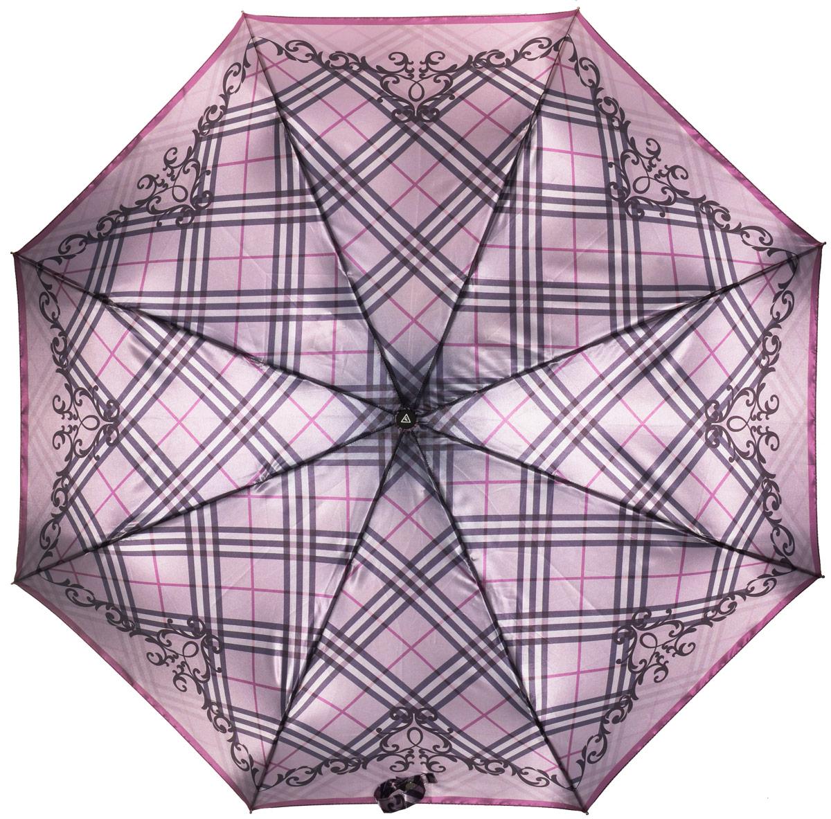 Зонт женский Fabretti, автомат, 3 сложения, цвет: клетка. L-16106-8L-16106-8Зонт женский Fabretti, облегченный суперавтомат, 3 сложения