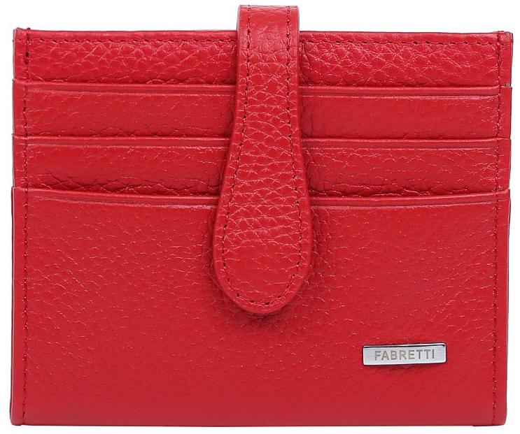 Визитница женская Fabretti 40025-red40025-redЭлегантная визитница от итальянского бренда Fabretti выполнена из натуральной кожи, которая имеет невероятно мягкую и приятную фактуру. С внешней и внутренней стороны модель содержит по 6 отделений, в которых вы сможете расположить свои визитные и дисконтные карточки. Визитница закрывается на прочную застежку. Яркий и насыщенный красный цвет в сочетании с фурнитурой, выполненной в серебре, превращают визитницу не просто в удобный, но и стильный аксессуар.