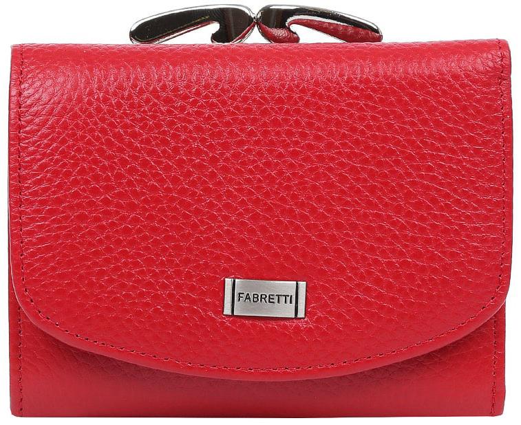 Кошелек женский Fabretti 42020-red42020-redУдобный и яркий женский кошелек от итальянского бренда Fabretti выполнен из натуральной кожи, которая имеет мягкую и приятную фактуру. Фурнитура выполненная под серебро и насыщенный красный цвет делают дизайн утонченным и изысканным. Внутри имеется три вместительных отделения для купюр, одно из которых закрывается на молнию. Вы сможете с легкостью разместить свои кредитные и дисконтные карточки с помощью 5 отделов, а также всегда носить с собой любимую фотографию. На тыльной стороне изделия дизайнеры расположили вместительный карман для мелочи, который закрывается на изящный рамочный замок.