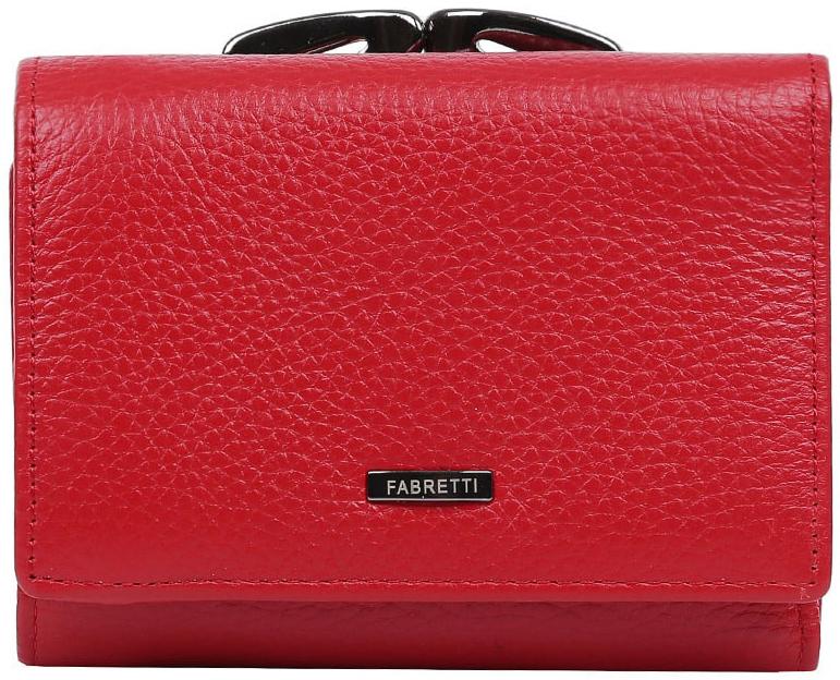 Кошелек женский Fabretti 42022-red42022-redКомпактный, но в тоже время многофункциональный кошелек от итальянского бренда Fabretti выполнен из натуральной кожи с мягкой фактурой. Модный и сочный красный цвет и роскошная фурнитура превращают модель в изящный аксессуар, который понравится любой моднице. Внутри изделия находятся три отделения для купюр, одно из которых закрывается на молнию. Вы сможете разместить все ваши дисконтные и кредитные карточки с помощью 6 отделений, а также всегда носить свою любимую фотографию. На тыльной стороне дизайнеры разместили вместительный карман на изысканном рамочном замке. Кошелек закрывается на прочную заклепку.