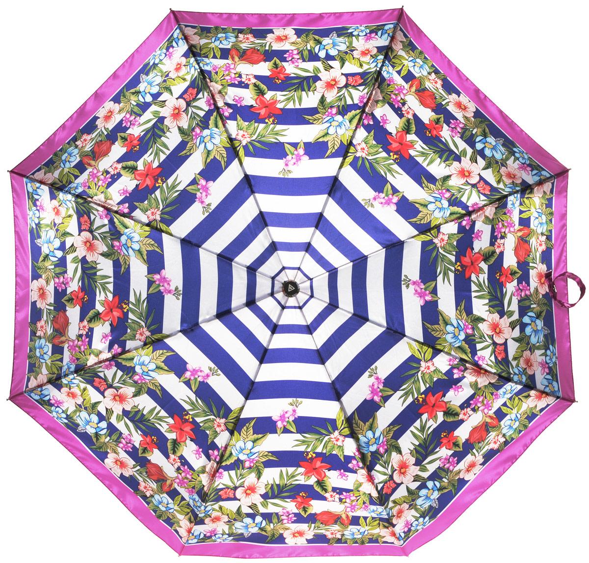 Зонт женский Fabretti, автомат, 3 сложения, цвет: мультиколор. L-16105-8L-16105-8Зонт женский Fabretti, облегченный суперавтомат, 3 сложения