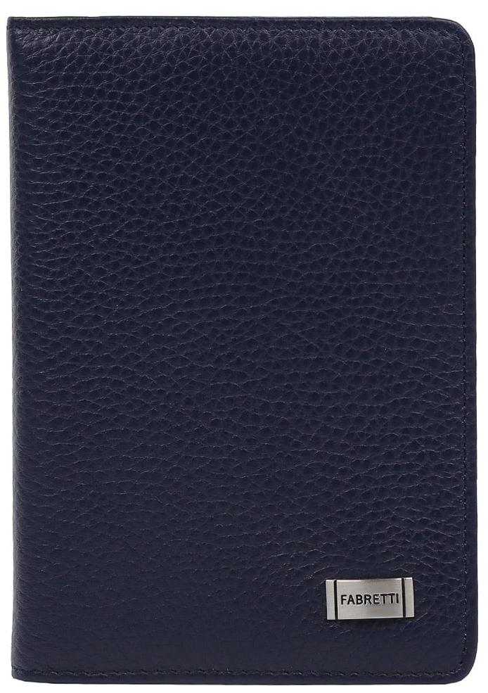 Обложка для документов женская Fabretti 52502-1-d.blue52502-1-d.blueЛаконичная и стильная женская обложка для документов от итальянского бренда Fabretti выполнена из натуральной кожи, которая имеет невероятно мягкую и приятную фактуру. Внутри аксессуара расположены 5 отделений для дисконтных и кредитных карт, а также удобный вкладыш для документов. Модный темно-синий цвет и фурнитура под серебро дополняют классический и строгий дизайн модели.