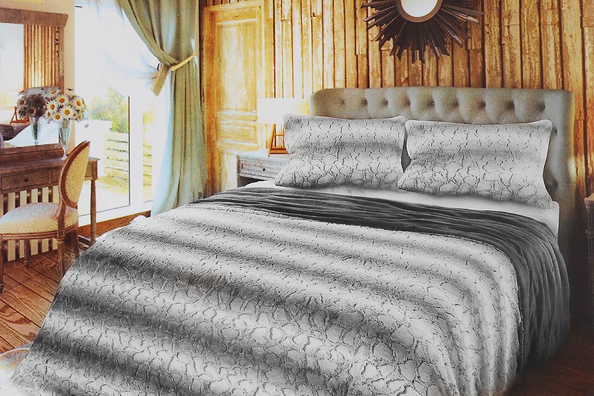 Комплект для спальни Унисон Morris: покрывало 220х240 см, наволочки 50х70 см, цвет: белый, светло-серый260107Комплект для спальни Унисон Morris состоит из пледа и двух наволочек, выполненных из полиэстера. Изделия оформлены красивым рельефом в полоску. Комплект для спальни Унисон Morris - отличный способ придать спальне уют и привнести в интерьер что-то новое. Комплект упакован в сумку-чехол на застежке-молнии. Размер пледа: 220 х 240 см. Размер наволочки: 50 х 70 см.