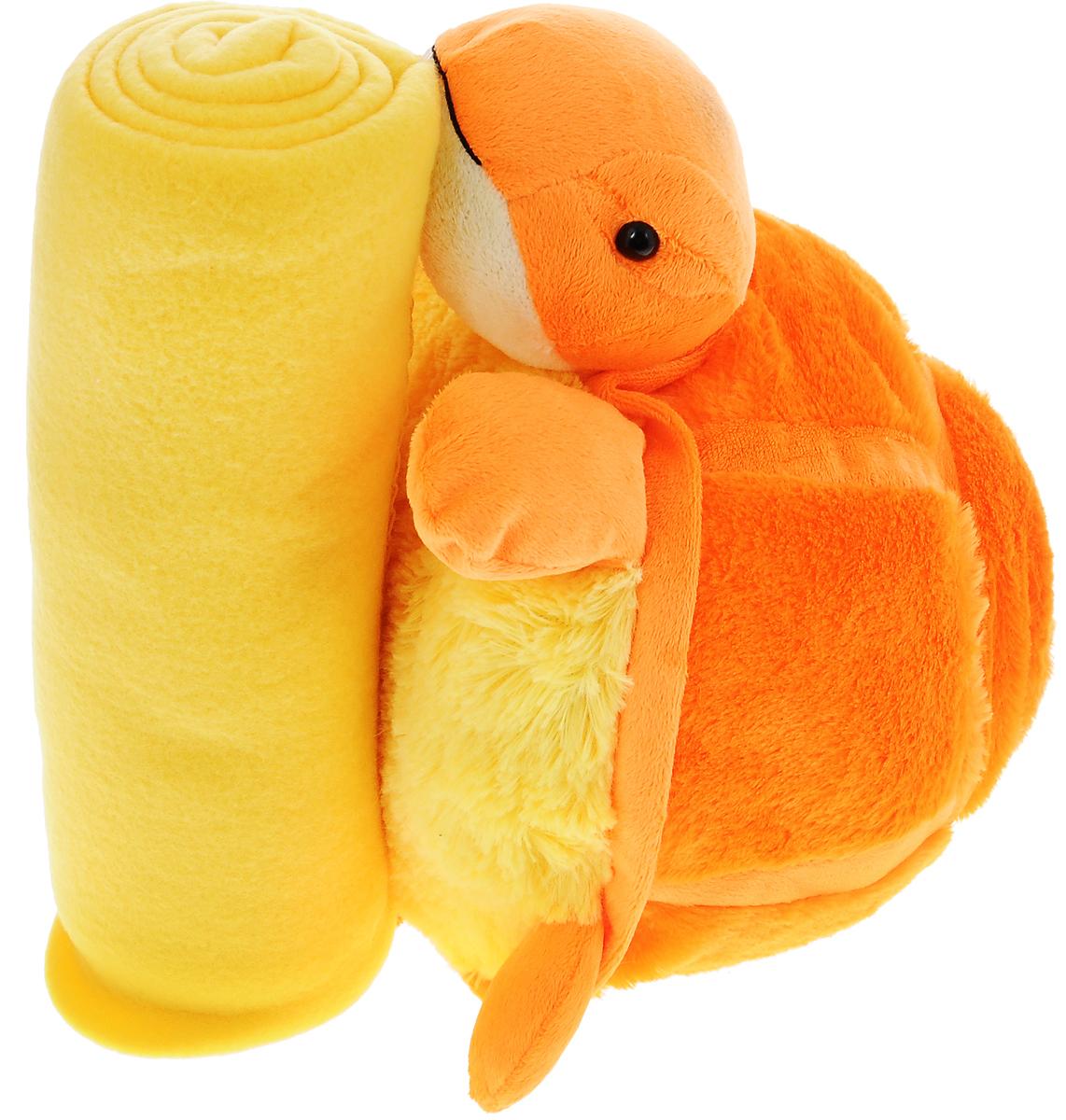 Home Queen Набор Черепашка цвет оранжевый желтый67427_оранжевый, желтыйНабор Home Queen Черепашка состоит из мягконабивной игрушки и пледа желтого цвета. Мягкий плед согреет в прохладные вечера и сделает ваш дом уютным. Плед не скатывается и не вызывает аллергии, легко стирается и быстро сохнет. Таким пледом можно уютно укрыться дома или взять с собой в путешествие. Игрушка в виде черепашки может использоваться как подушка. Набор Home Queen Черепашка - интересный и полезный подарок для ребенка. Плед и игрушка прекрасно дополнят интерьер детской и порадуют вашего малыша.