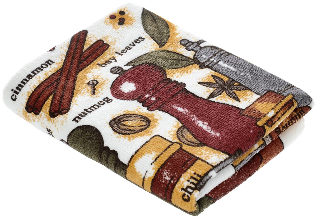 Полотенце кухонное Sunvim Пряности, 40 х 70 см09-40ВКухонное полотенце Sunvim Пряности, выполненное из 100% хлопка, оформлено ярким рисунком. Изделие предназначено для использования на кухне и в столовой. Такое полотенце станет отличным вариантом для практичной и современной хозяйки.