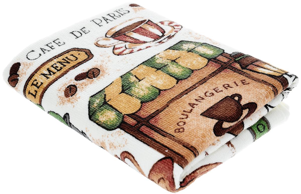 Полотенце кухонное Sunvim Кофемания, 40 х 70 см09-40ВКухонное полотенце Sunvim Кофемания, выполненное из 100% хлопка, оформлено ярким рисунком. Изделие предназначено для использования на кухне и в столовой. Такое полотенце станет отличным вариантом для практичной и современной хозяйки.
