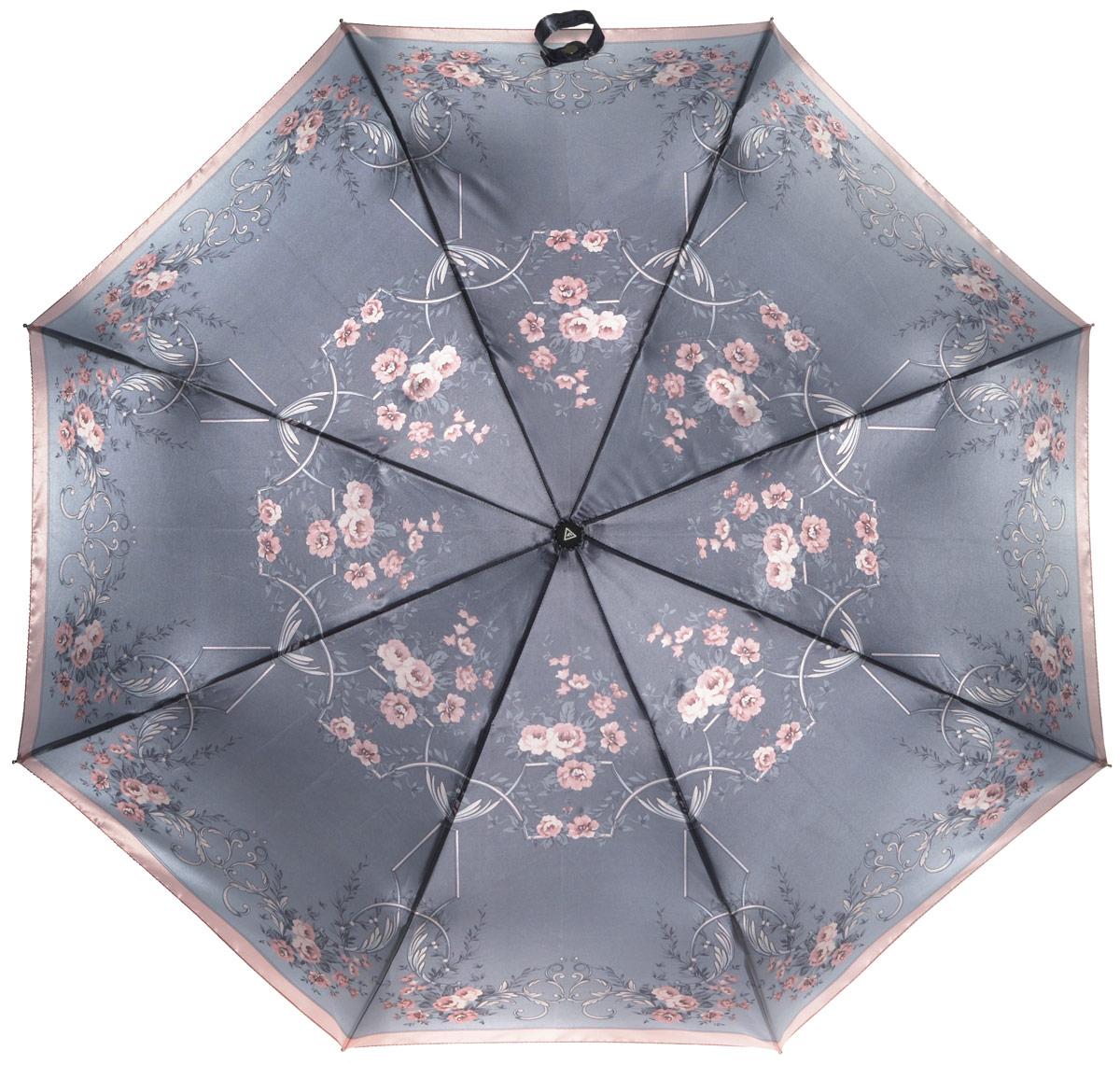 Зонт женский Fabretti, автомат, 3 сложения. L-16104-17L-16104-17Зонт женский Fabretti, облегченный суперавтомат, 3 сложения