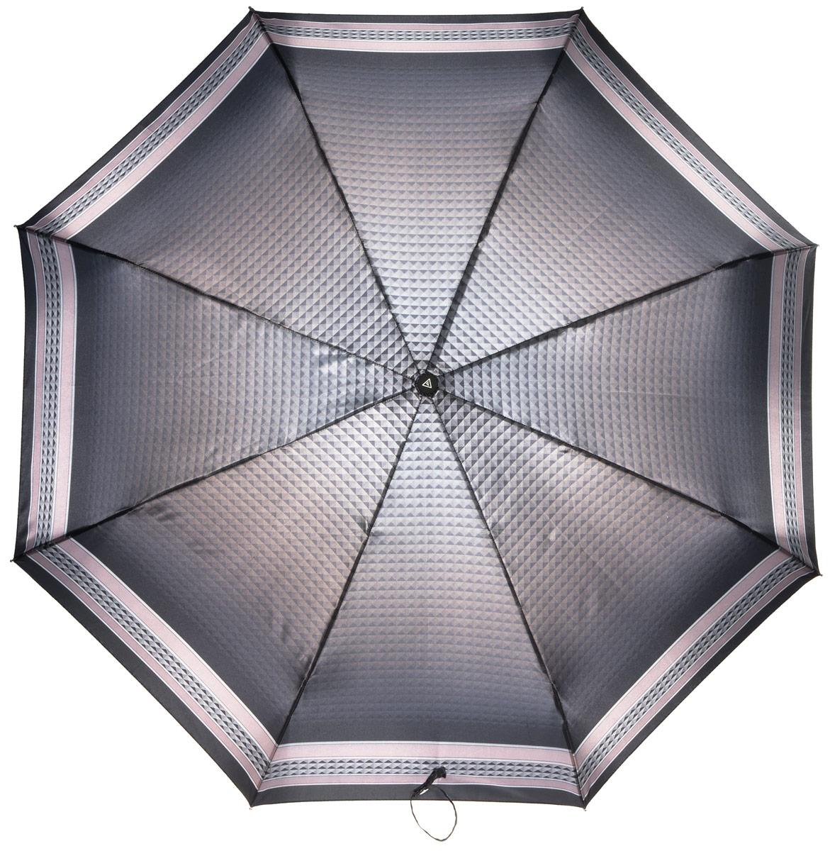 Зонт женский Fabretti, полный автомат, 3 сложения, цвет: мультиколор. S-16100-11S-16100-11Зонт женский Fabretti, суперавтомат, 3 сложения, сатин