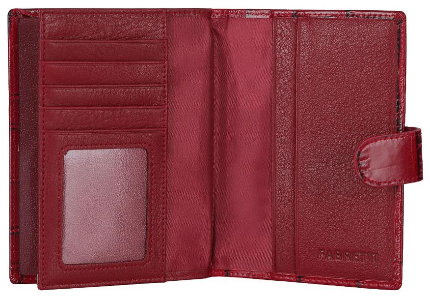 Обложка для документов женская Fabretti 53003-red-cocco