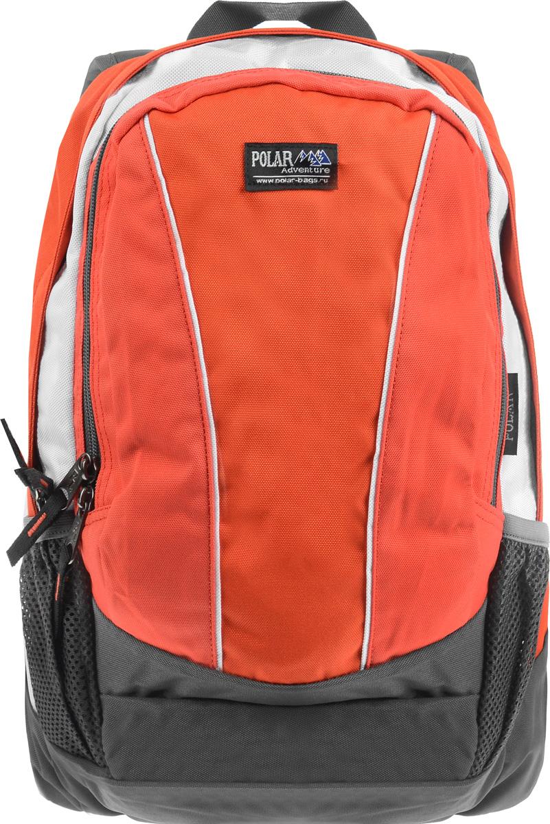 Рюкзак городской Polar, 15 л. ТК1015-02ТК1015-02Женский городской рюкзак Polar с модным дизайном очень функционален и практичен. Рюкзак имеет 2 отделения, закрывающиеся на застежки-молнии, которые отлично подойдут для персональных вещей и документов A4. Основное отделение имеет один накладной карман. Спереди расположено объемное отделение с накладным карманом для мелких принадлежностей, пластиковым карабином для ключей и сетчатым кармашком на молнии. Также по бокам имеются два кармана на молнии для mp3, CD плеера и два кармана на резинке, предназначенные для бутылки с водой. Полностью вентилируемая и удобная мягкая спинка, а также мягкие плечевые лямки регулируемой длины создают дополнительный комфорт при носке.