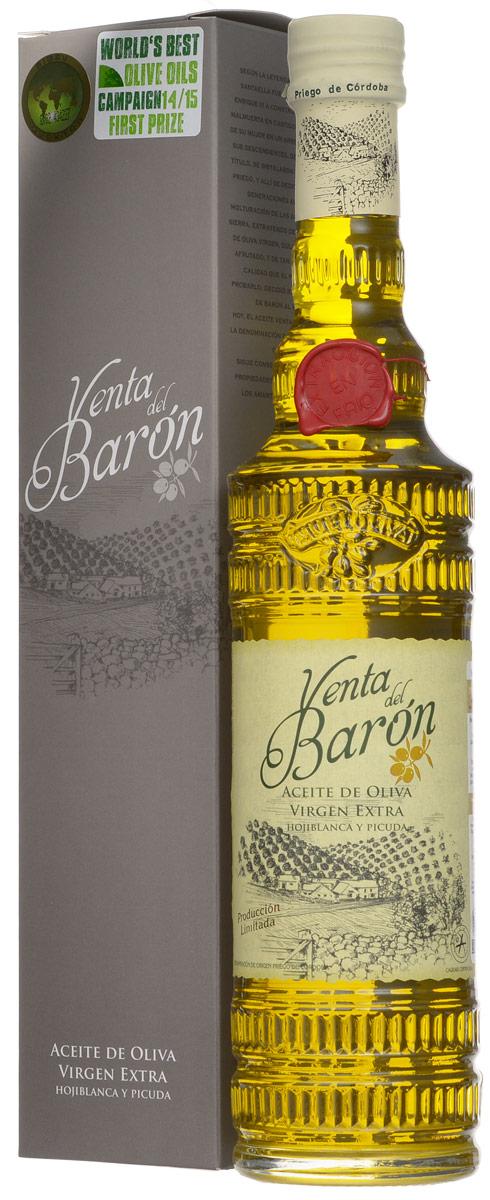 Venta Del Baron Extra Virgin масло оливковое, 0,5 л8411342001235Venta Del Baron Extra Virgin - нерафинированное премиальное оливковое масло первого холодного отжима из оливок сортов Охибланка и Пикуда. Кислотность 0,1%. Имеет сертификаты Халяль и Кошер. Venta Del Baron Extra Virgin - единственное оливковое масло в мире три года подряд ставшее победителем международного конкурса WorldsBest Olive Oils. Продукт производится на площади 30 000 гектаров со столетними оливковыми деревьями, и часть ее входит на территорию природного заповедника Sierras Subbeticas.Этот регион имеет Защищенное Наименование по происхождению для оливкового масла, аналогично великим винам Франции и Италии. Оливки сортов Hojiblanca (Охибланка) и Picuda (Пикуда) раннего сорта урожая собирают исключительно вручную. Первый холодный отжим производится уже через несколько часов после сбора урожая (менее 15 часов). В молодых оливках сконцентрирован весь вкус, аромат и полезные вещества, но, в отличие от спелых, они дают гораздо меньше масла,...
