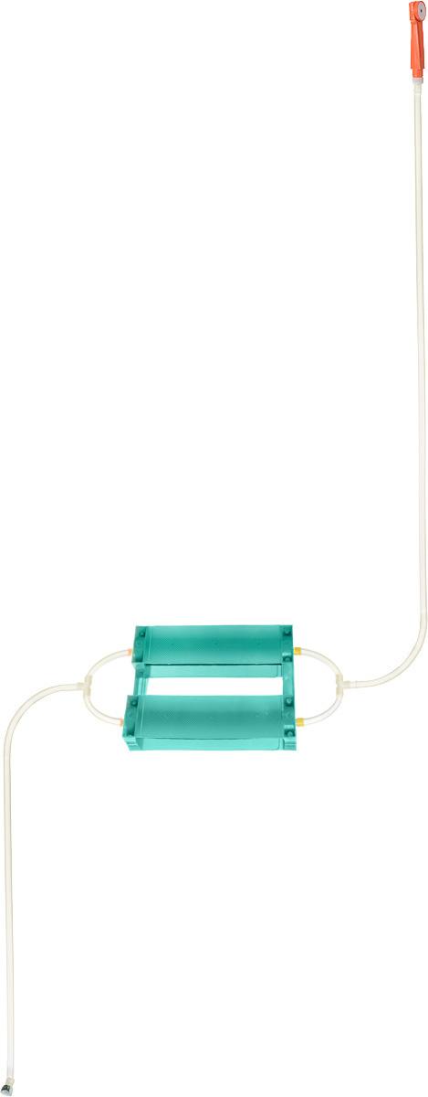 Душ портативный Восход-ЛТД Дачник, цвет: бирюзовый, желтый, оранжевый7032753_бирюзовыйПереносной портативный душ Восход-ЛТД Дачник, выполненный из высококачественного пластика, ПВХ и резины, предназначен для принятия водных процедур в условиях отсутствия водопровода: на участках частных домов, дач, в деревенских банях. Душ состоит из 2-х секционного насоса с корпусом, всасывающего шланга и шланга с лейкой. Особенности: - при хранении и эксплуатации не допускается перегиба шлангов; - рекомендуется хранение душа при комнатной температуре. Размер насоса (с учетом корпуса): 43 х 7 х 7 см. Длина всасывающего шланга: 153 см. Длина шланга (без учета лейки): 198 см. Длина лейки: 17 см.