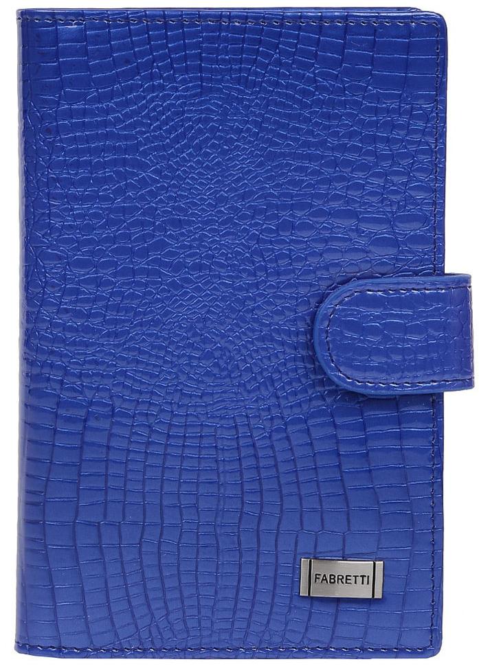 Обложка для документов женская Fabretti 54038-blue cocco L54038-blue cocco LЯркая и стильная женская обложка для документов от итальянского бренда Fabretti выполнена из натуральной лакированной кожи с элегантным тиснением под крокодила. Внутри аксессуара расположены 5 отделений для дисконтных и кредитных карт, а также удобный вкладыш для документов. Изделие закрывается на прочную застежку. Модный и насыщенный синий цвет в сочетании с фурнитурой под серебро превращают модель не просто в удобную обложку для документов, но и невероятно стильный аксессуар.