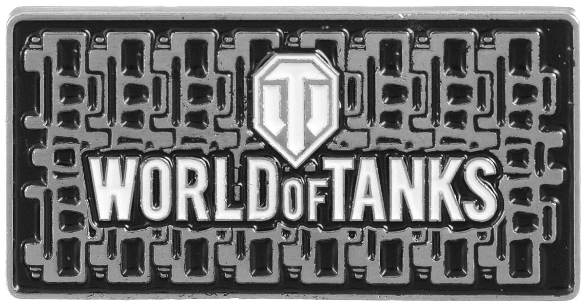 Значок World of Tanks Гусеница, цвет: серебряный. 13221322Значок Гусеница от World of Tanks изготовлен из цинкового сплава. Значок выполнен в виде таблички с надписью Word of Tanks. Крепится изделие с помощью застежек-гвоздиков. Значок - это важный аксессуар истинного игрока.