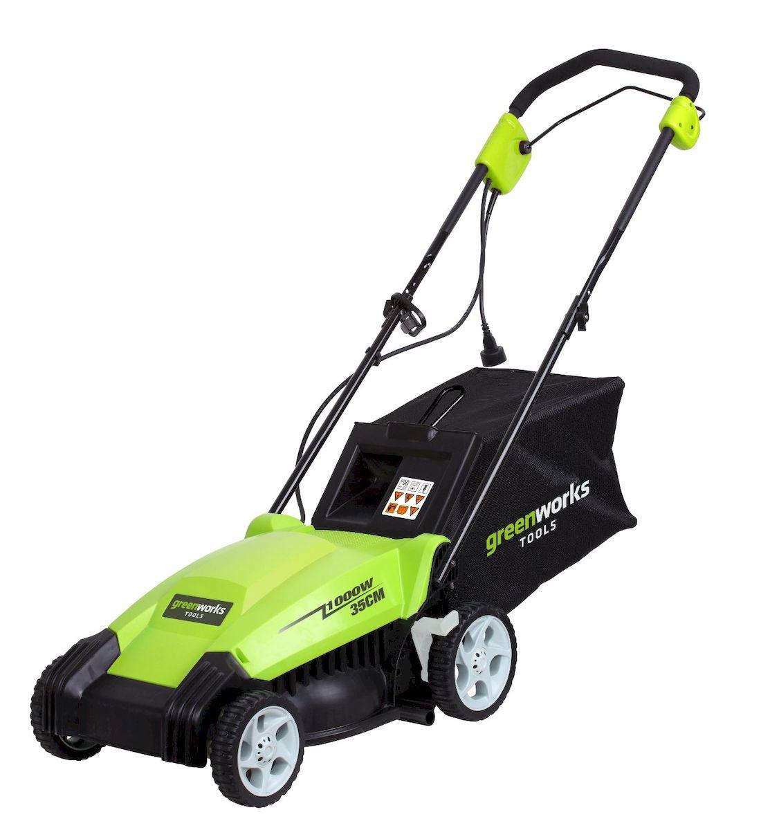 Газонокосилка GreenWorks 1000W 35см