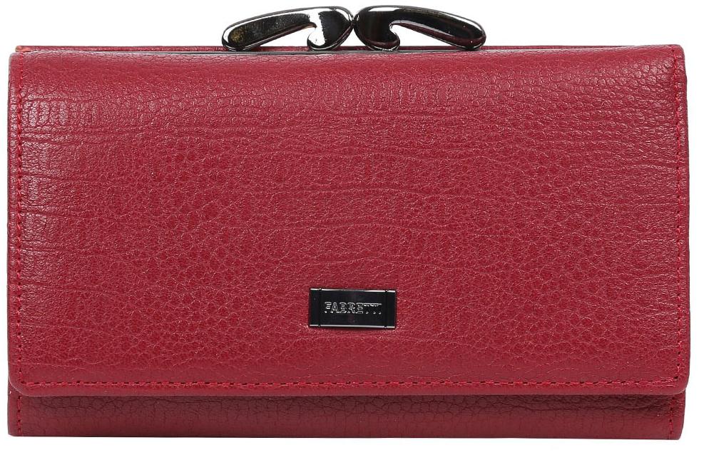 Кошелек женский Fabretti 55020-red cocco55020-red coccoЭлегантный кошелек от итальянского бренда Fabretti выполнен из натуральной кожи с изящным и модным тиснением под рептилию. Яркий и насыщенный красный цвет и роскошная фурнитура превращают кошелек в изящный аксессуар, который понравится любой моднице. Внутри модели находятся два отделения для купюр, одно из которых закрывается на молнию. Аксессуар очень многофункционален. Вы сможете разместить все ваши дисконтные и кредитные карточки с помощью 17 отделений. На тыльной стороне дизайнеры разместили вместительный карман на изысканном рамочном замке. Кошелек закрывается на прочную заклепку.