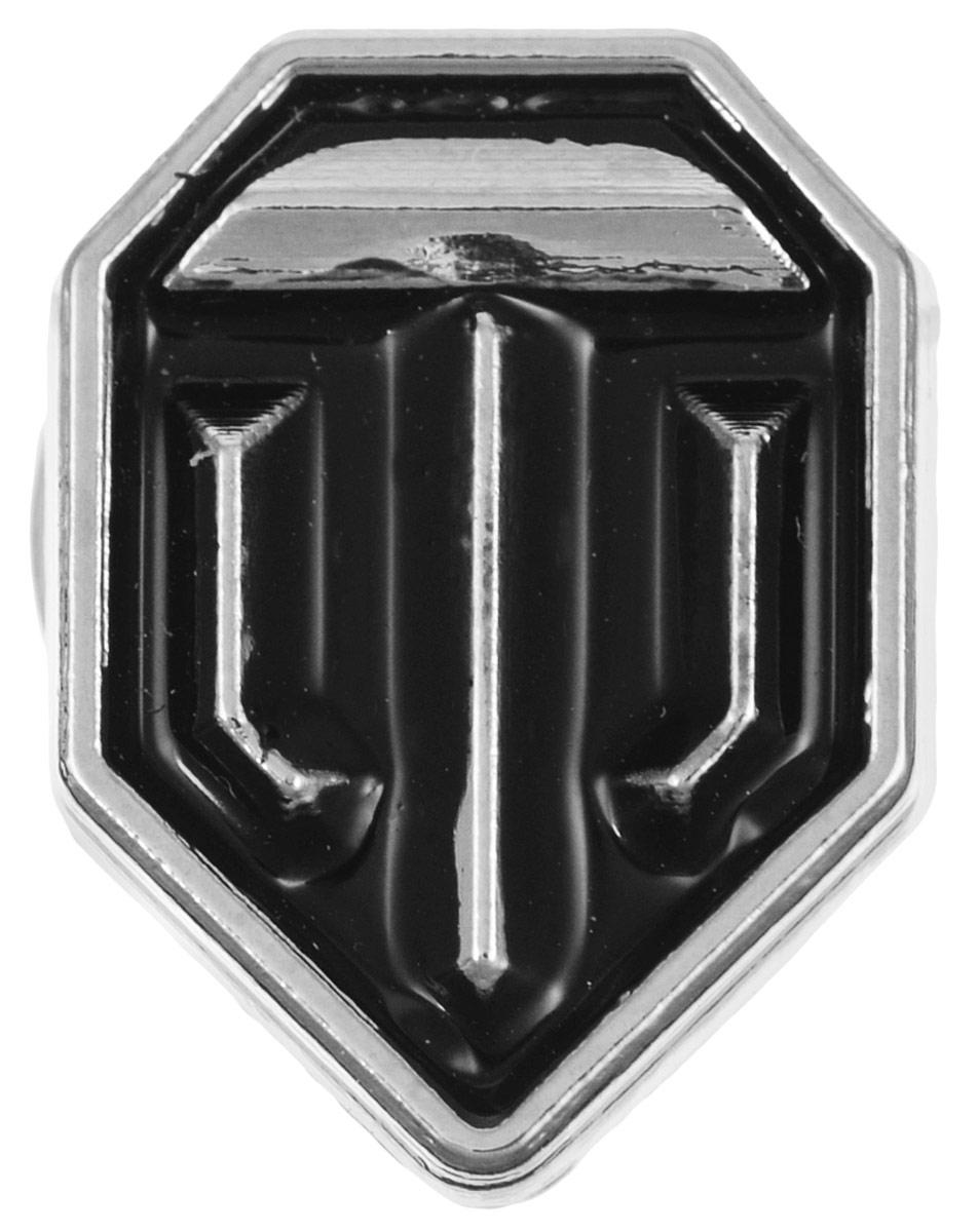 Значок World of Tanks Эмблема, цвет: серебряный, черный. 15541554Значок Эмблема от World of Tanks изготовлен из цинкового сплава. Значок выполнен в виде эмблемы игры. Крепится изделие с помощью застежки-гвоздика. Значок - это важный аксессуар истинного игрока.