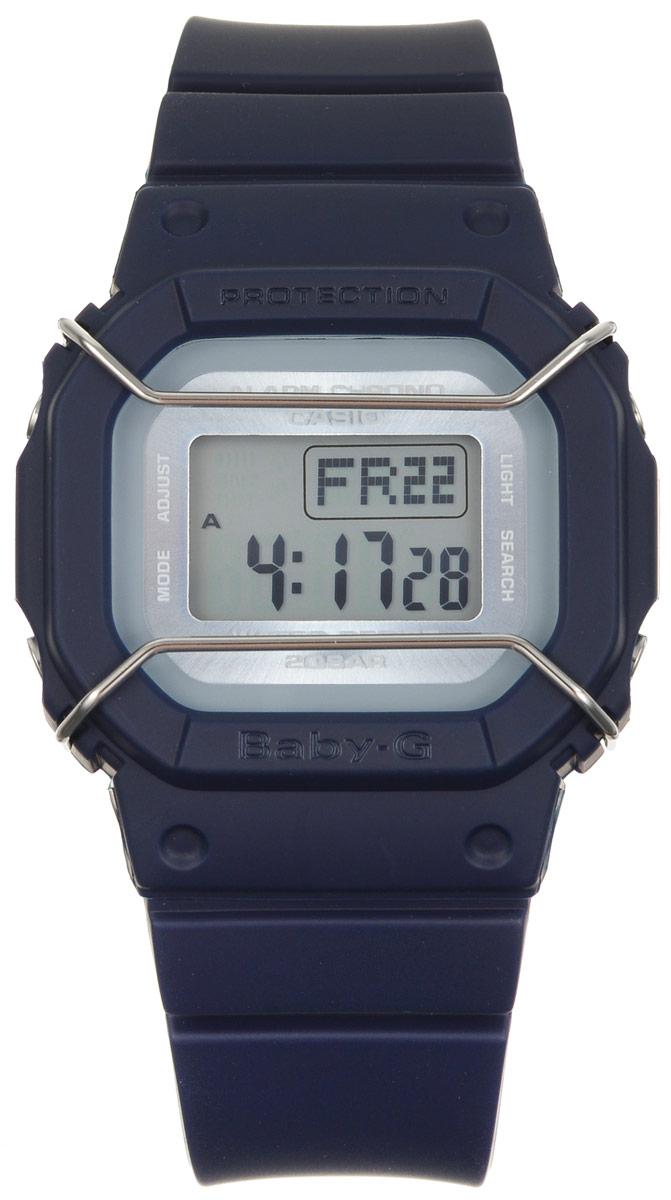 Часы наручные Casio Baby-G, цвет: темно-синий. BGD-501UM-2EBGD-501UM-2EМногофункциональные часы Casio Baby-G, выполнены из минерального стекла и полимерного материала. Часы оформлены символикой бренда. Электронные часы оснащены имеют степень влагозащиты равную 20 BAR. Браслет часов оснащен застежкой-пряжкой, которая позволит с легкостью снимать и надевать изделие. Корпус часов оснащен электролюминесцентной подсветкой. Дополнительные функции: таймер, будильник, функция повтора будильника, секундомер, функция мирового времени, автоматический календарь. Часы поставляются в фирменной упаковке. Многофункциональные часы Casio Baby-G станут незаменимым аксессуаром.