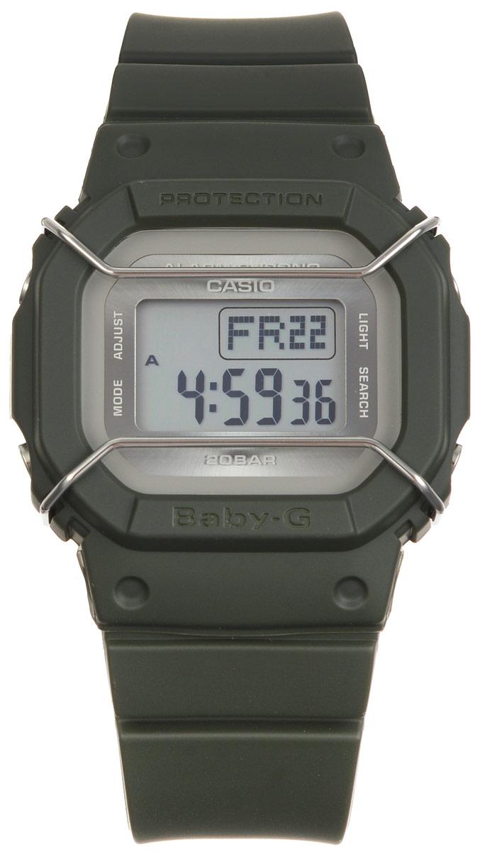 Часы наручные Casio Baby-G, цвет: темно-зеленый. BGD-501UM-3EBGD-501UM-3EМногофункциональные часы Casio Baby-G, выполнены из минерального стекла и полимерного материала. Часы оформлены символикой бренда. Электронные часы оснащены имеют степень влагозащиты равную 20 BAR. Браслет часов оснащен застежкой-пряжкой, которая позволит с легкостью снимать и надевать изделие. Циферблат часов оснащен электролюминесцентной подсветкой. Дополнительные функции: таймер, будильник, функция повтора будильника, секундомер, функция мирового времени, автоматический календарь. Часы поставляются в фирменной упаковке. Многофункциональные часы Casio Baby-G станут незаменимым аксессуаром.