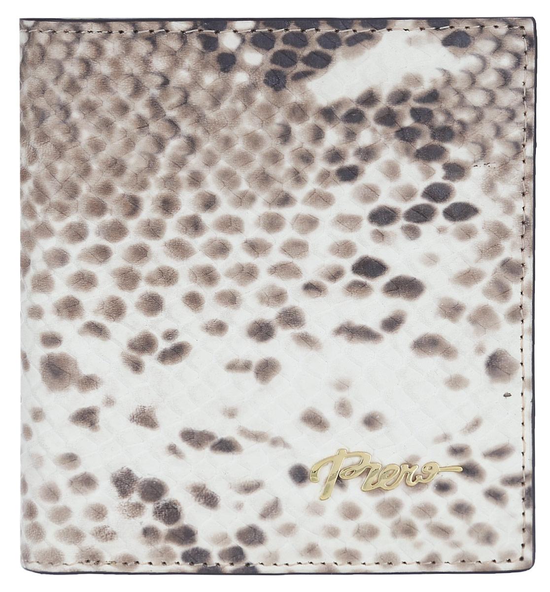 Кошелек женский Piero, цвет: бежевый. 42М4_90028_30_1402П_1642М4_90028_30_1402П_16Стильный женский кошелек Piero выполнен из натуральной кожи с декоративным тиснением под рептилию. Состоит из двух отделений для купюр, кармана для мелочи с клапаном на кнопке, двух скрытых карманов и трех кармашков для визиток и карт. Изделие закрывается на кнопку. Кошелек упакован в фирменную коробку с логотипом бренда. Такой функциональный аксессуар станет замечательным подарком человеку, ценящему качественные и практичные вещи.