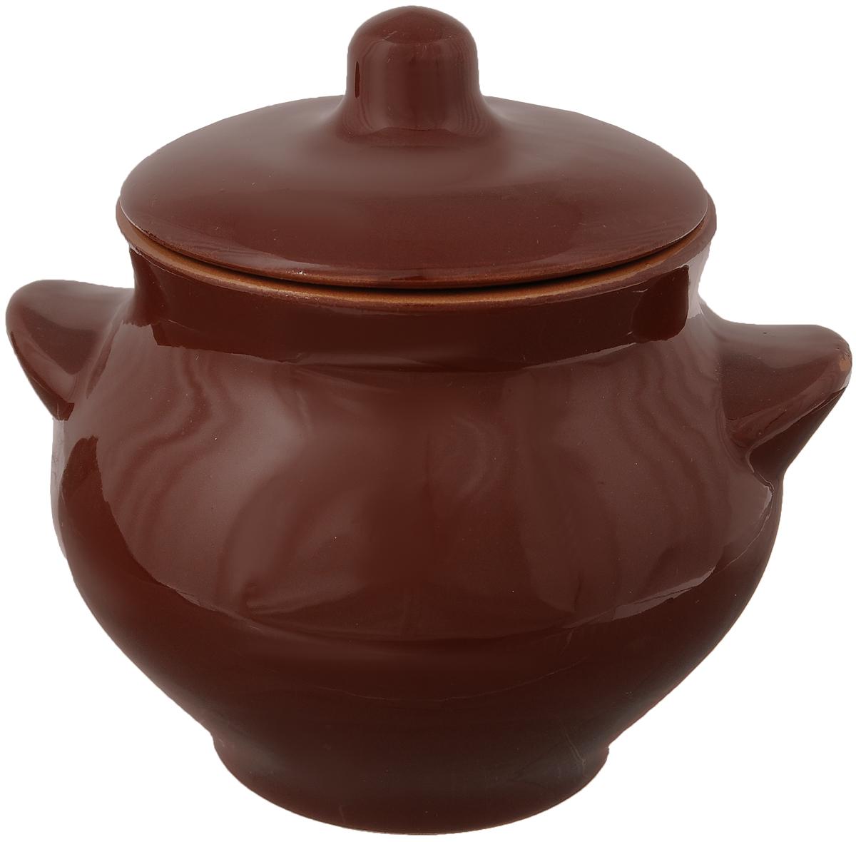 Горшочек для запекания Борисовская керамика Радуга, цвет: коричневый, 550 млРАД00000328_коричневыйГоршочек для запекания Борисовская керамика Радуга выполнен из высококачественной красной глины. Уникальные свойства красной глины и толстые стенки изделия обеспечивают эффект русской печи при приготовлении блюд. Блюда, приготовленные в таком горшочке, получаются нежными и сочными. Вы сможете приготовить мясо, сделать томленые овощи и все это без капли масла. Это один из самых здоровых способов готовки. Диаметр горшка (по верхнему краю): 9,5 см. Высота стенок: 11 см.